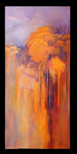 tall golden trees30x14