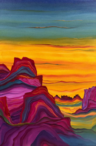 Honey Skies  36 X 24