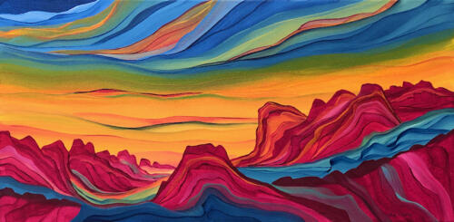 Evening Colors 15 X 30