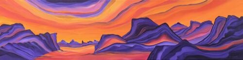 Shades of Sunset 12 X 48