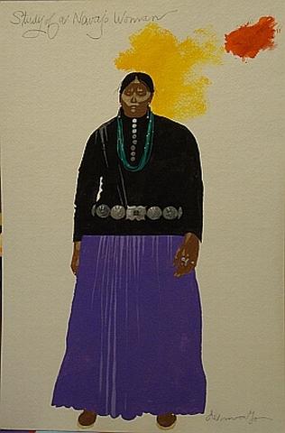 study for navajo woman 18x12