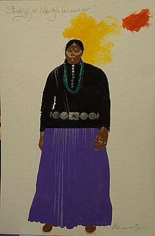 study for navajo woman 18x12