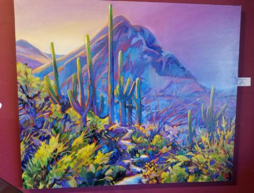 Saguaro Nocturne 40x48