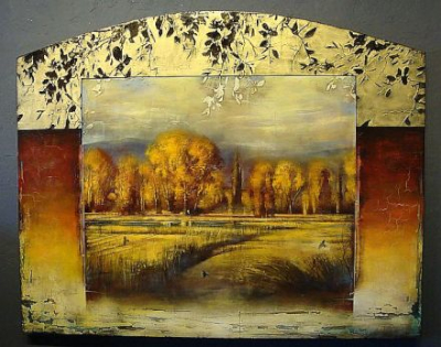 autumn fields 48x60