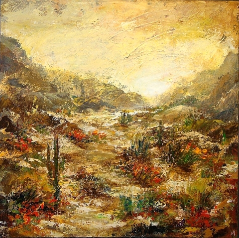 vista desert abloom 36x36