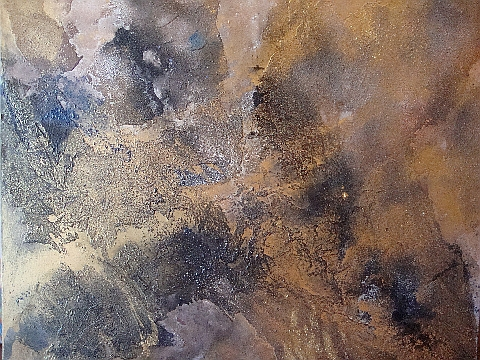 bronze abstract 42x54