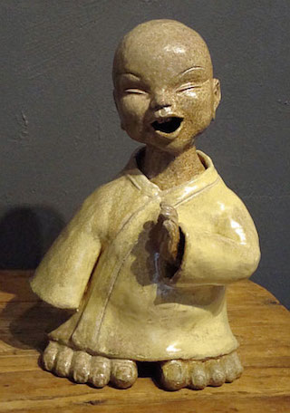 big footed baby buddha iii 14x10x7