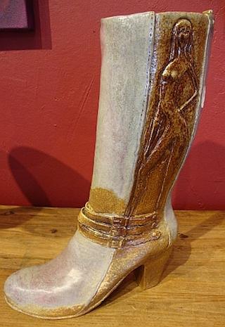 ceramic ladys tall boot