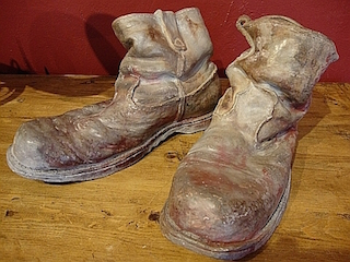 ceramic pair of mans work boots