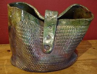 ladys ceramic green purse