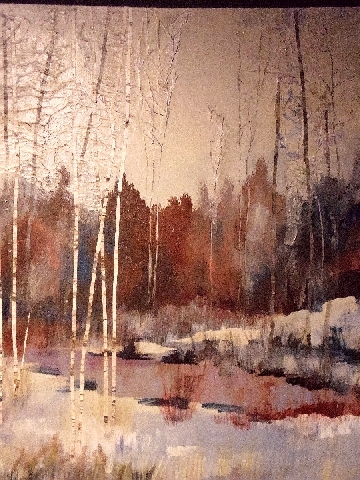vanishing into winter 40x30