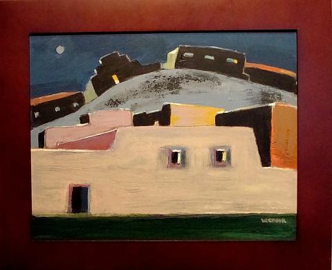 Pueblo Nocturne  11x14